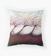 Not out of the woods yet Throw Pillow