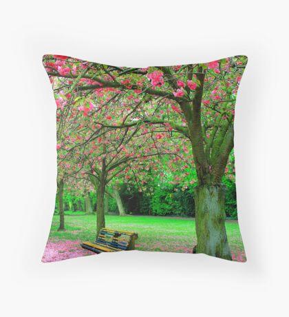 Spring in Dubin Throw Pillow