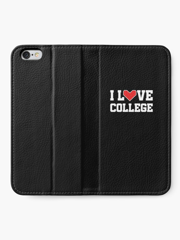 Alternate view of I Love College iPhone Wallet