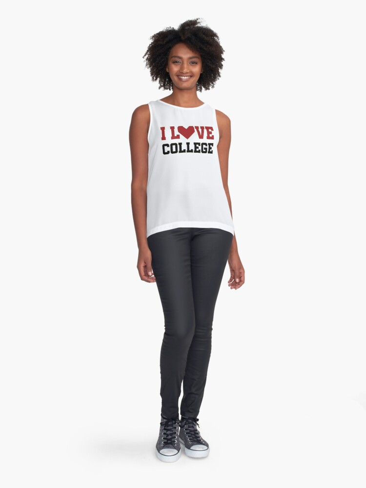 Alternate view of I Love College Sleeveless Top