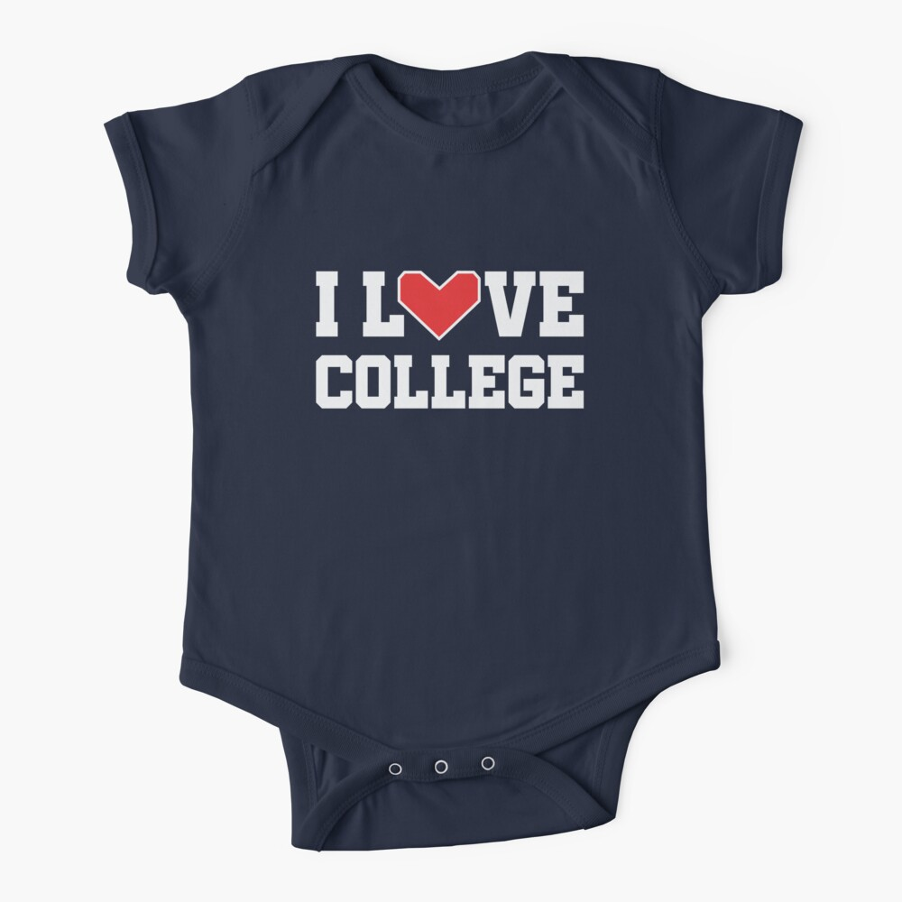 I Love College Baby One-Piece