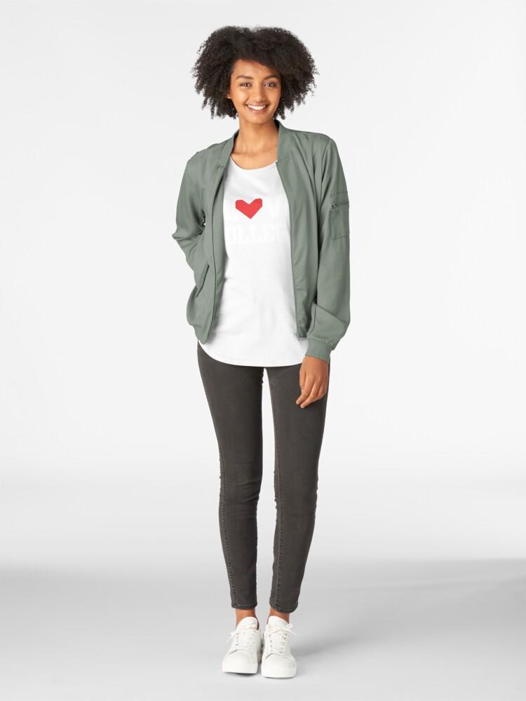 Alternate view of I Love College Premium Scoop T-Shirt