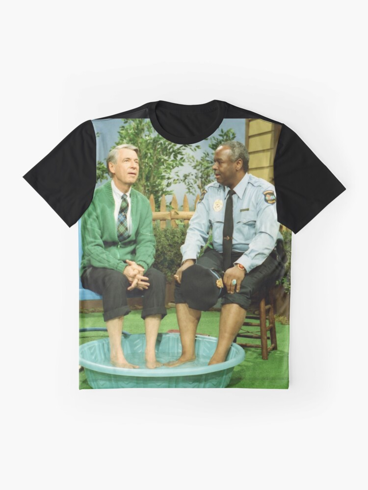 Alternate view of Mister Rogers & Officer Clemmons cooling their feet Graphic T-Shirt