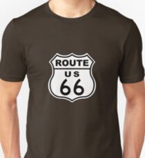 Route 66 Sign Slim Fit T-Shirt