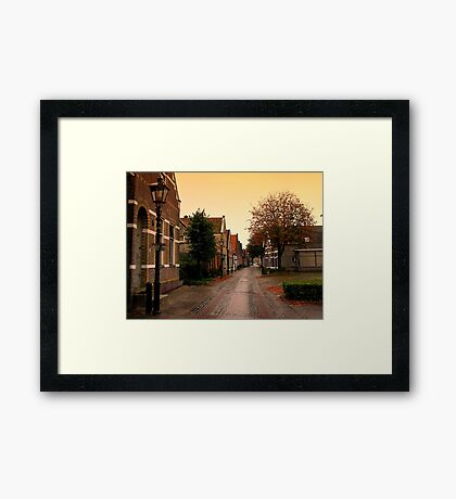 A little Fall of Rain Framed Print