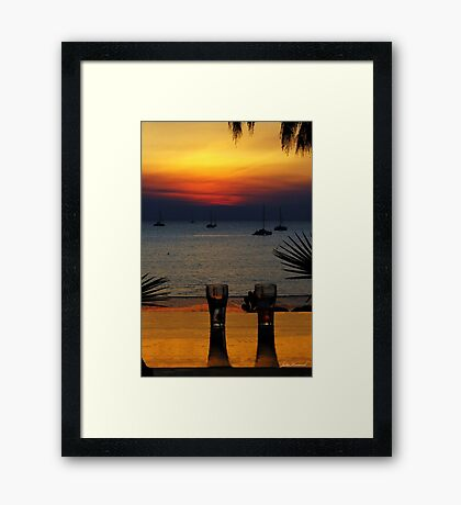 Sunset Dining, Darwin, NT Framed Print