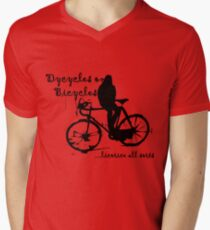 Dycycles on Bicycles Mens V-Neck T-Shirt