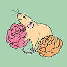 Rat and Roses Fawn by Holly Wells . Sweet Illustrations