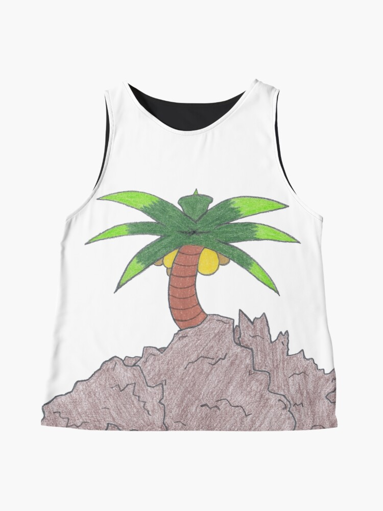 Alternate view of Merch #19 -- Palm Atop The Rugged Embankment Sleeveless Top