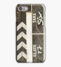 Clapper board 2 iPhone Case/Skin