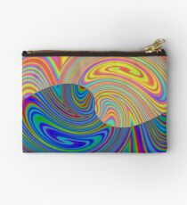 Vortex Dance Game with Two Halves of the World Zipper Pouch