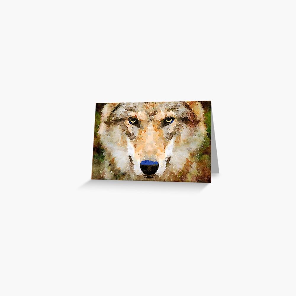 Wild Wolf Greeting Card