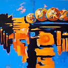 funky oranges by annickmckenzie