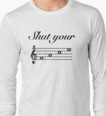 Funny Music Design Long Sleeve T-Shirt