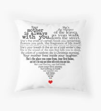 Mother's day poem Throw Pillow