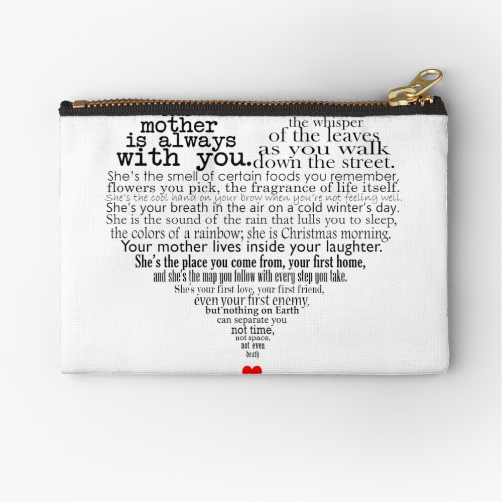 Mothers Day Poem Zipper Pouch