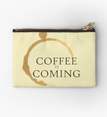 Coffee is Coming Studio Pouch