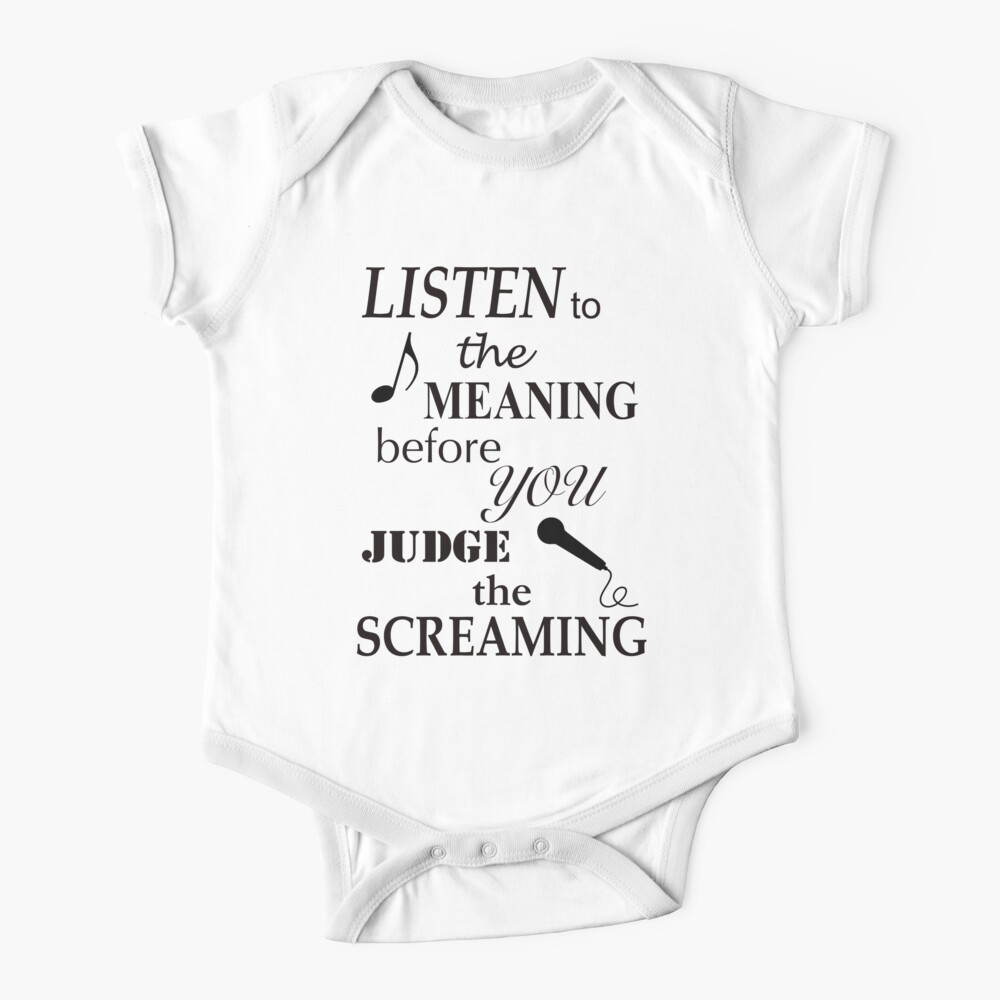 Listen To The Meaning Before You Judge The Screaming Baby One-Piece
