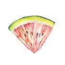 Watermelon illustrated image by Sharon Farrow