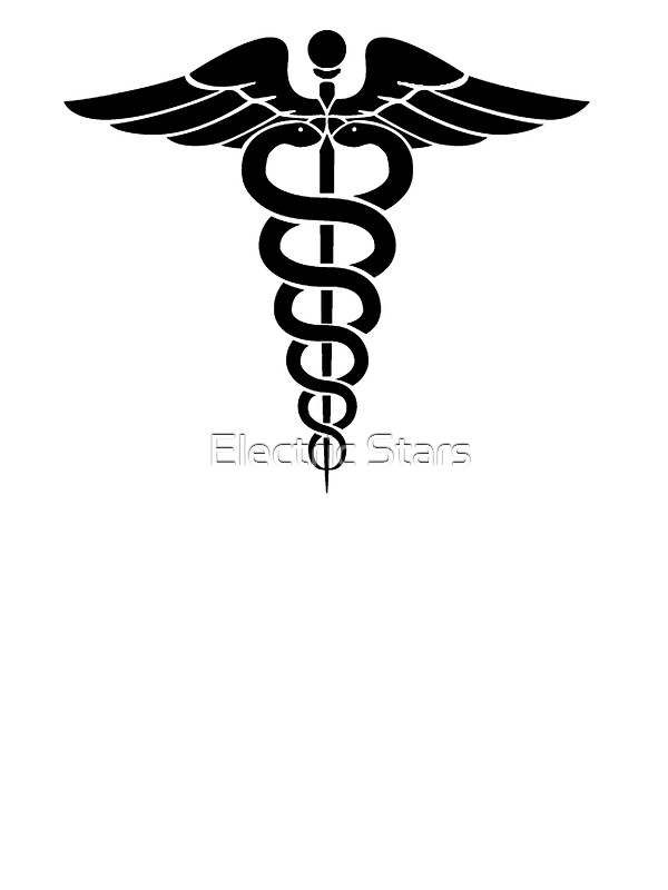 Caduceus Medical Symbol Stickers By Electric Stars Redbubble