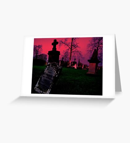Cemetary in Ohio Greeting Card