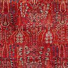 Sultanabad Arak West Perserteppich Print von Vicky Brago-Mitchell®