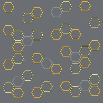 Hexagon Pillow by dismantledesign