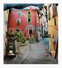 Street in Barga, Italy Photographic Print
