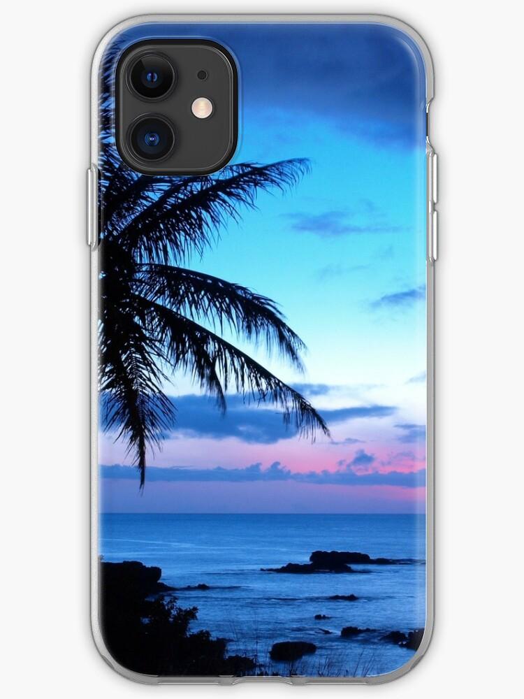 Dark tropical flowers iphone 11 case