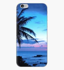 Vinilo o funda para iPhone Tropical Island Pretty Pink Blue Sunset Paisaje