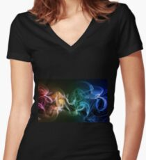 Colors explosion Women's Fitted V-Neck T-Shirt