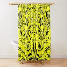 Black and Yellow Jungle Shower Curtain