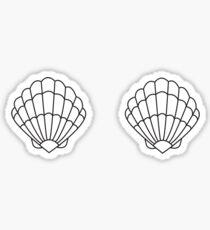 Mermaid Shell - Outline  Sticker