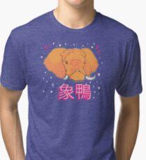 Elephant Duck Kanji Tri-blend T-Shirt