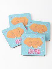 Elephant Duck Kanji Coasters