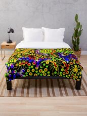 Tropical Candy Throw Blanket