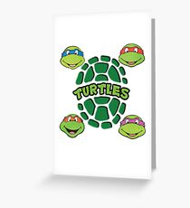 Ninja Turtles Greeting Card