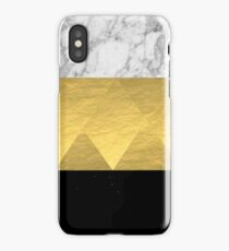 Stacked - gold foil black and marble cell phone case golden urban minimal retro modern city hipster  iPhone Case