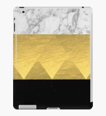 Stacked - gold foil black and marble cell phone case golden urban minimal retro modern city hipster  iPad Case/Skin