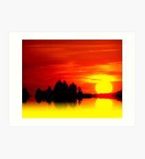 Golden Sunball Art Print