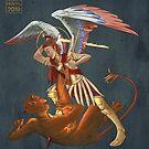 St Michael and the Dragon by FoolishMortal