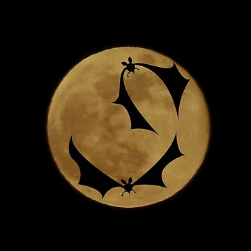 Bats and the full moon by ELENNE