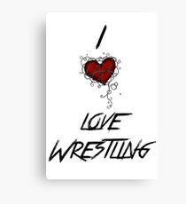 I love wrestling Canvas Print