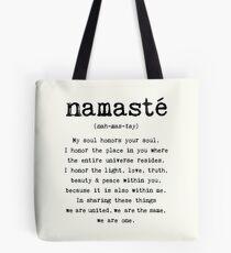 Namaste. Tote Bag
