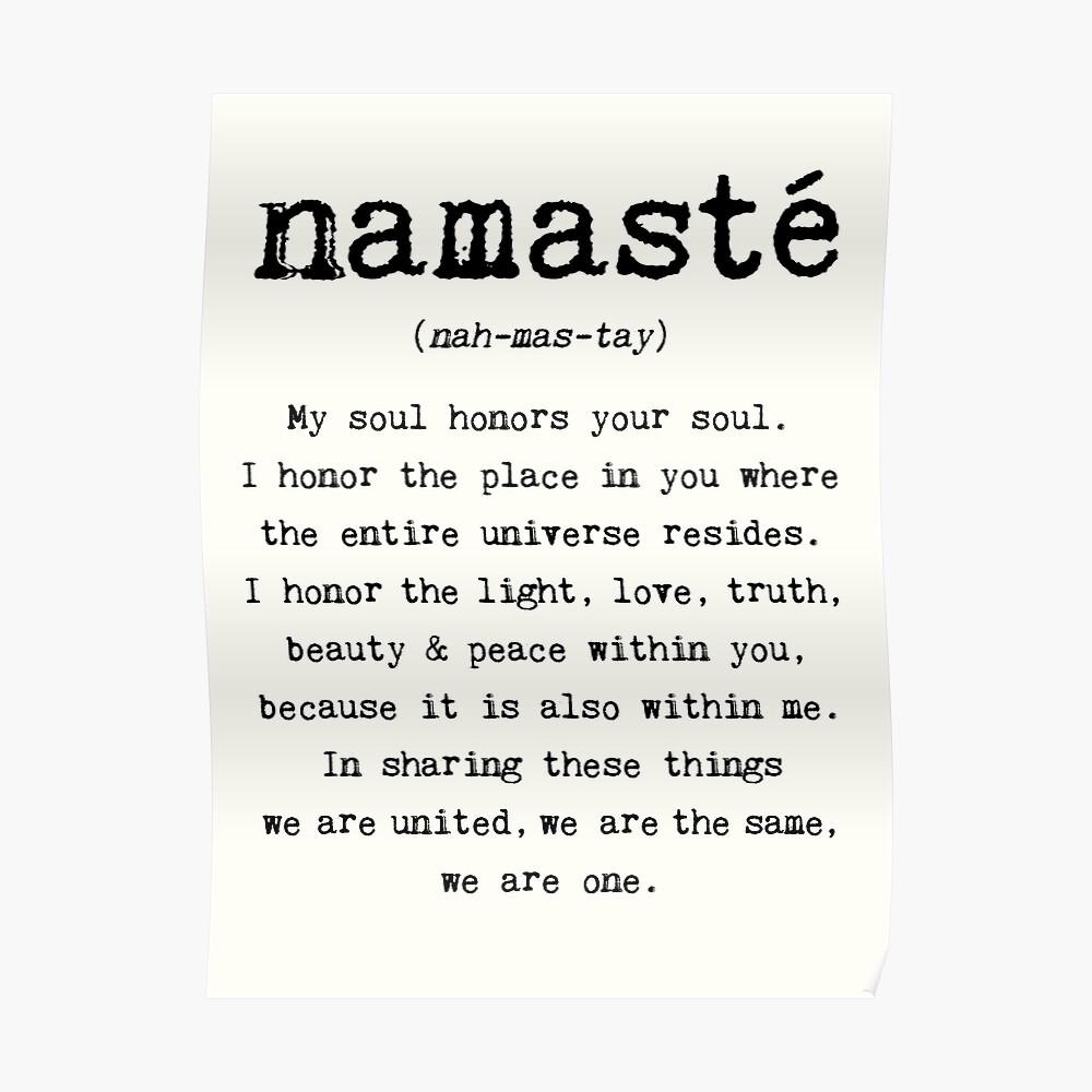 Namaste. Póster