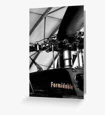 blackhawk : formidable Greeting Card