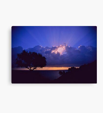 """ Ave Maria ""  sanrise  landscape  -  Zakintos . Greece. by  Brown Sugar. Views (719). Favs (5) . Thanks friends !!!!!! Canvas Print"