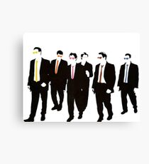 Reservoir Dogs with colored ties and glasses Canvas Print