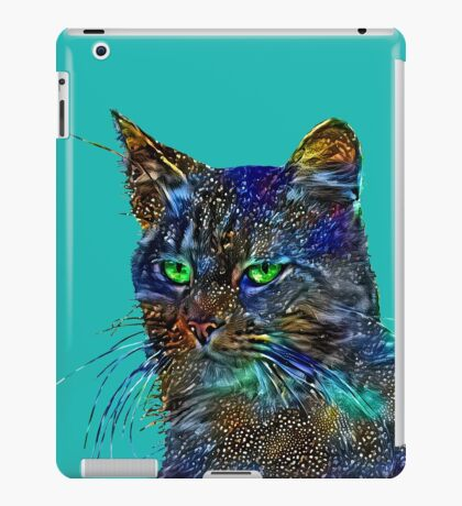 Artificial neural style Starry night wild cat iPad Case/Skin