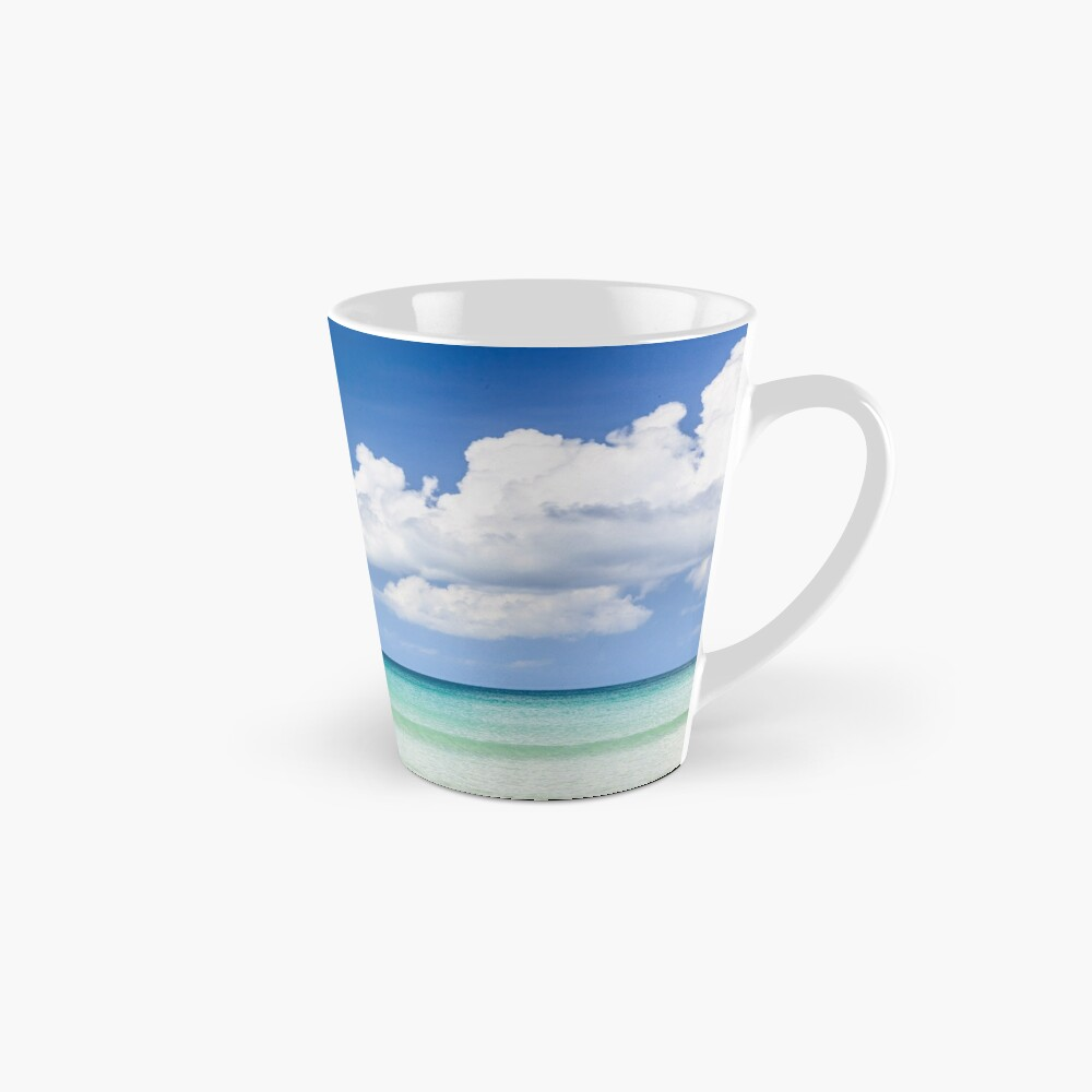 Fisher boat and calm clear turquoise water Mug